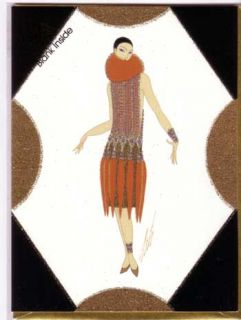 Erte Art Deco 6 New Erte Greeting Note Cards Assortment