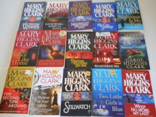 Lot of 35 Mary Higgins Clark Mystery Suspense Crime Books Alvirah