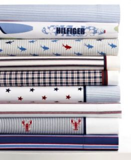 Tommy Hilfiger Bedding, Novelty Print Primary 200 Thread Count Sheet