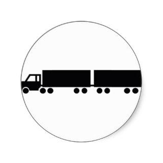 black truck trailer icon sticker