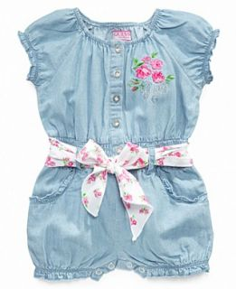 NEW GUESS Baby Romper, Baby Girls Chambray Romper