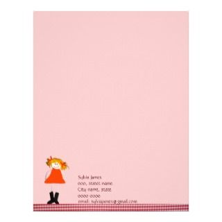 Cute doll letterhead