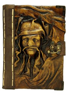 Baby Jesus and Mary Brown Leather Bound Journal Notebook Diary