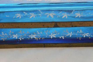 Mary Gregory Enamel Casket Box 1800s Large