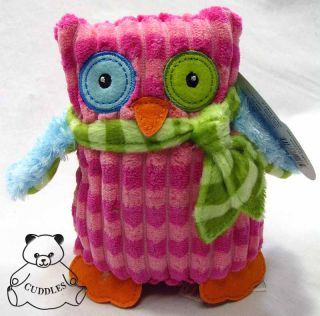 Marys Owl Pink Bird Mary Meyer Plush Toy Stuffed Animal Safari Print