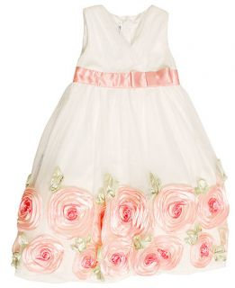 Bonnie Jean Kids Dress, Little Girls Rosette Dress   Kids