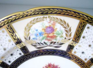 China Cobalt Queen Mary Dinner Plate 10 5 Sign Ja Robinson