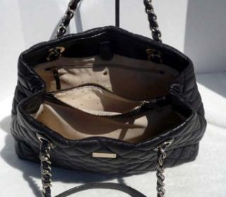 478 Kate Spade Gold Coast Shimmer Maryanne Quilted Shopper Tote Bag
