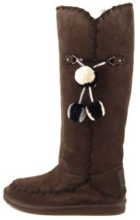Juicy Couture Marsha Chocolate Waxy Suede Womens Designer Tall Boots 7