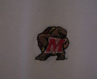 Maryland Terps Terrapins Lands End Golf Shirt XXL Tall White Great
