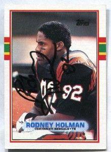 Bengals Tulane Rodney Holman 1989 Topps Signed Autograph