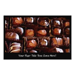 Box of Chocolates, Tempting Chocolate Candy Personalized Flyer