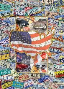 Masterpieces USA License Plates Suitcase Jigsaw Puzzle 1000 PC