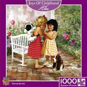 Masterpieces Joys of Childhood Sharing Secrets Jigsaw Puzzle 1000 PC