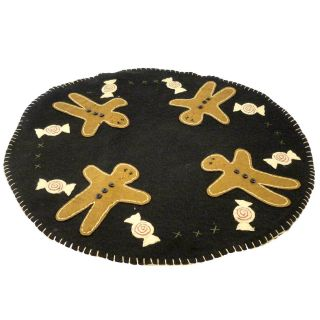 Primitive Gingerbread Candy Mat 2762 Christmas Candle Mat New