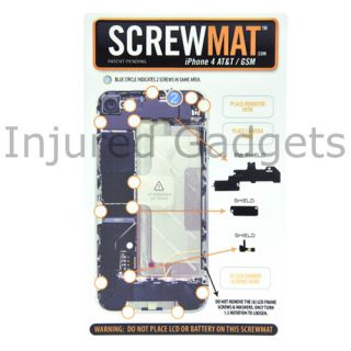 Magnetic Screwmat Screw Mat Repair Tool for iPhone 4 GSM at T Magnet