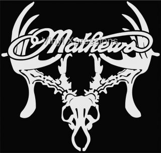 Mathews Deer Skull Bowhunter Decal Truck Window Vinyl Auto Sticker or