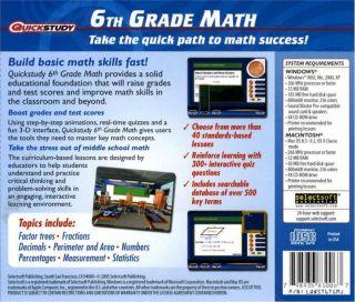 Brand New Kids Software Speedstudy 6th Grade Math
