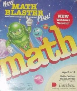 Math Blaster Plus w Manual PC Kids Learning Game 3 5