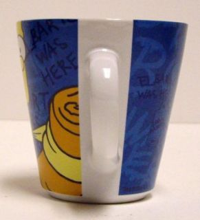 The Simpsons Coffee Mug Cup Homer Bart Signed Matt Groening