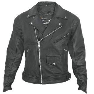 Xelement BXU 10580 Mens Matte Black Leather Motorcycle Jacket L