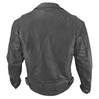 Xelement BXU 10580 Mens Matte Black Leather Motorcycle Jacket L