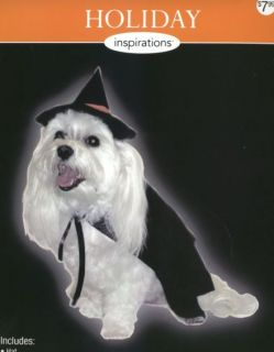 Halloween Costume Dog Witch Hat Cape Sz Large New