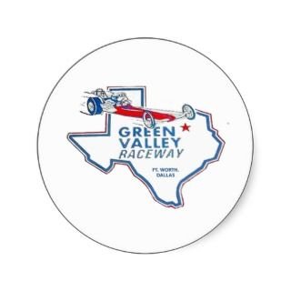 Green Valley Raceway Round Sticker