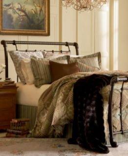 Kingston Mahogany Gold Metal Bed Frame   mattresses