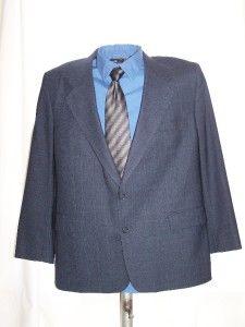 Von Maur Bill Blass Blue Suit Coat Jacket Blazer 44R