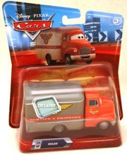 Disney Cars Deluxe Miles Delivery Truck New HTF