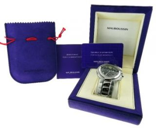 Mens Mauboussin Marbore Chronograph Date Watch Box & Papers Retail $