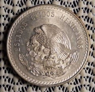 1948 Mexico 5 Pesos Silver Coin Uncirculated