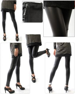 ReneeSox* Fleece Lined Thermal MATT Wet Leather  Stretch Leggings