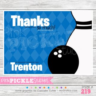 Boy 2 Personalized Party Invitation or Thank You Card 219