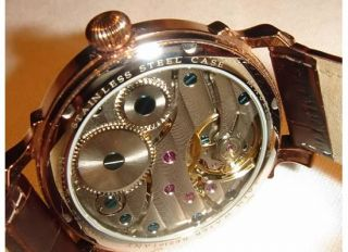 New Maurice Blum Mens Mechanical Rose Gold Tone Steel Watch $1769 MSRP