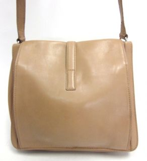 You are bidding on a MAURO GOVERNA FOR SUAREZ Tan Leather Shoulder
