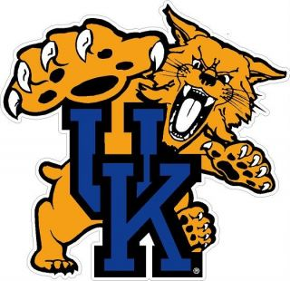 Kentucky Wildcats Mascot Logo Digital Printed Graphic Vinyl Window