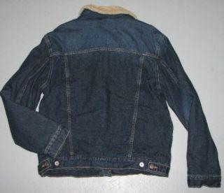 Mens Mavi Jeans Eddie Sherpa Jacket Blue Denim Coat Sz M Medium