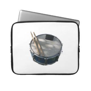 Blue Snare Drum Drumsticks and Muffler Computer Sleeve