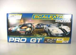 Scalextric 1 32 Pro GT Slot Car Set with 4 Cars C1260T