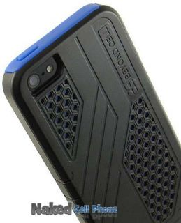 Blue Black Duo Max Honeycomb Matte Hard Case TPU Skin for Apple iPhone