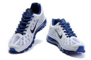 Nike Air Max 2011 Mens Running Training Shoes Blue White Black UK10