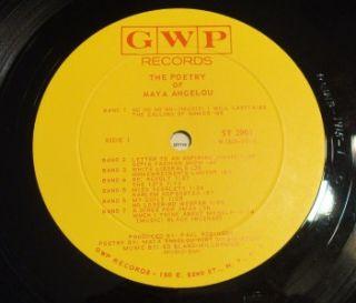 1966 he Poery of Maya Angelou Vinyl LP Record Album Samped Promo