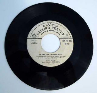 The Caine Mutiny Original 1954 Max Steiner RCA Victor 45 Very RARE 47