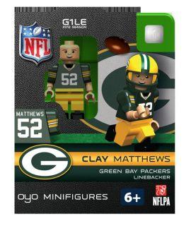 Clay Mathews OYO Mini Fig Figure Lego Compatible Green Bay Packers NIP