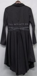 Matti Mamane Size Medium Knee Length Long Sleeve Dress Charcoal Gray