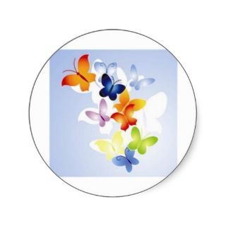 Joaninha butterflies stickers