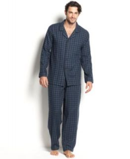 Nautica Sleepwear, Plaid Flannel Camp Shirt