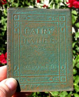 Leather Vintage Book FAIRY TALES Hans Christian Anderson Stories 1919